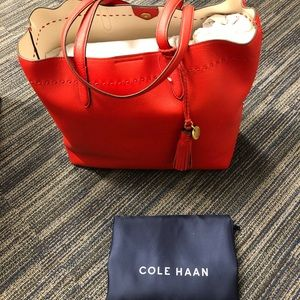 Brand New Cole Haan large leather tote